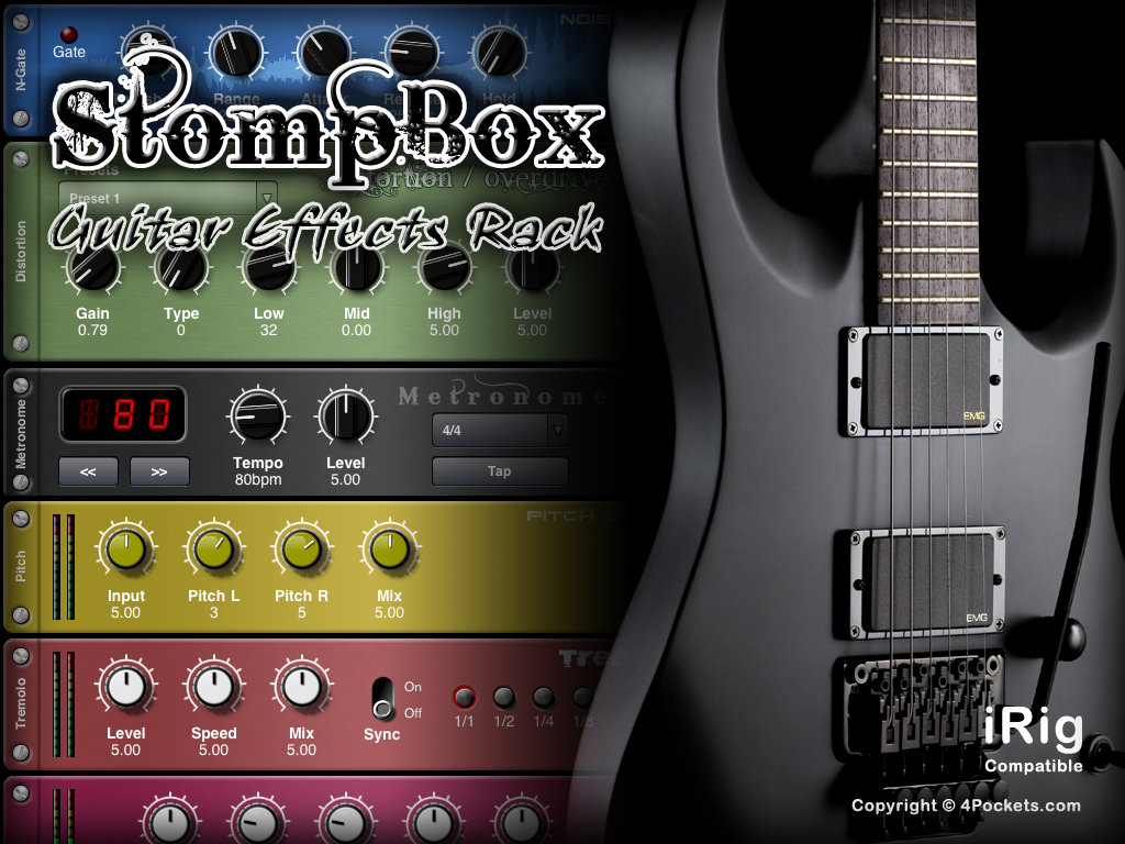 stompbox guitar effect app for ipad on sale 4pocketsaudio. Black Bedroom Furniture Sets. Home Design Ideas