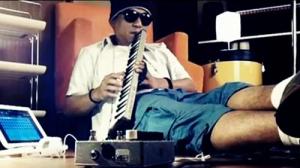 Indra Lesmana recording a track on his iPad